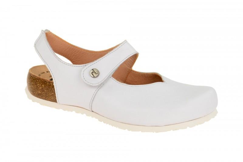 Think JULIA bequeme Pantolette für Damen in weiß