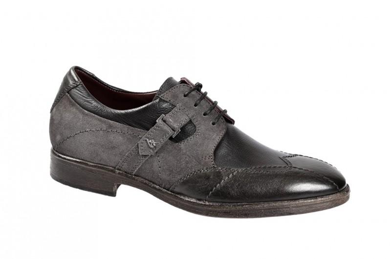 Bello D537 elegante Halbschuhe und Schnürschuhe für Herren in schwarz