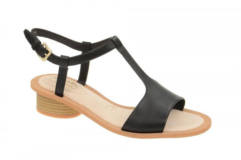 Clarks SANDCASTLE ICE Riemchen Sandale für Damen in schwarz