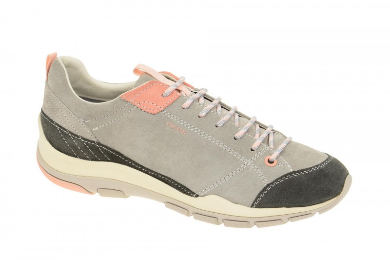 Geox Respira Kander B Sneakers in hellgrau Outdoor Halbschuhe