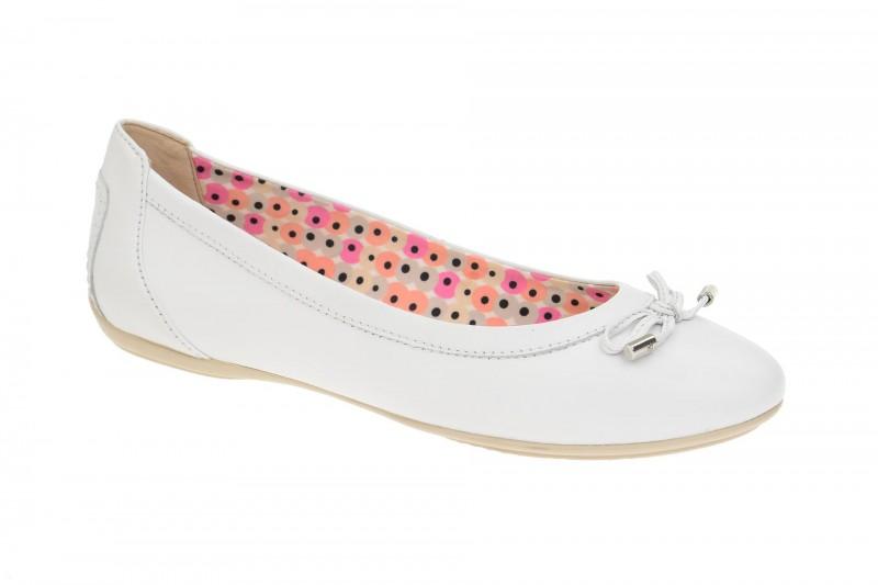 Geox Respira Charlene A Ballerina Damenschuhe in weiß