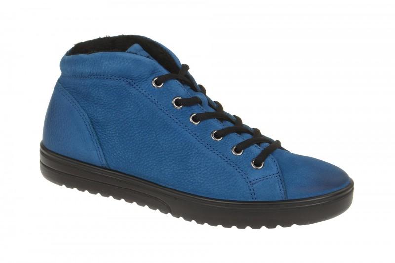 Ecco FARA bequeme Stiefelette für Damen in blau