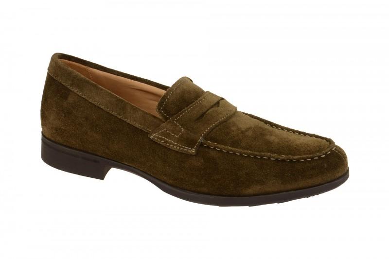 Geox Respira Besmington Schuhe in braun Wildleder Herren Slipper