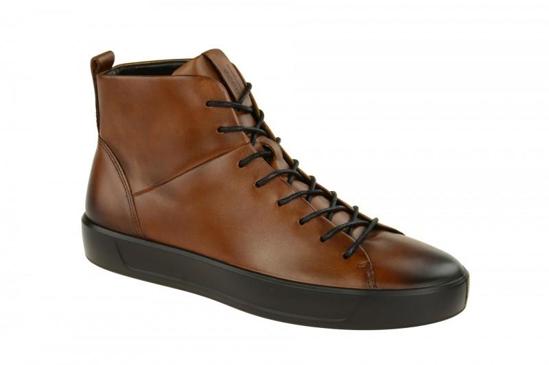 Ecco SOFT 8 MEN`S Mid Cut Sneakers für Herren in braun