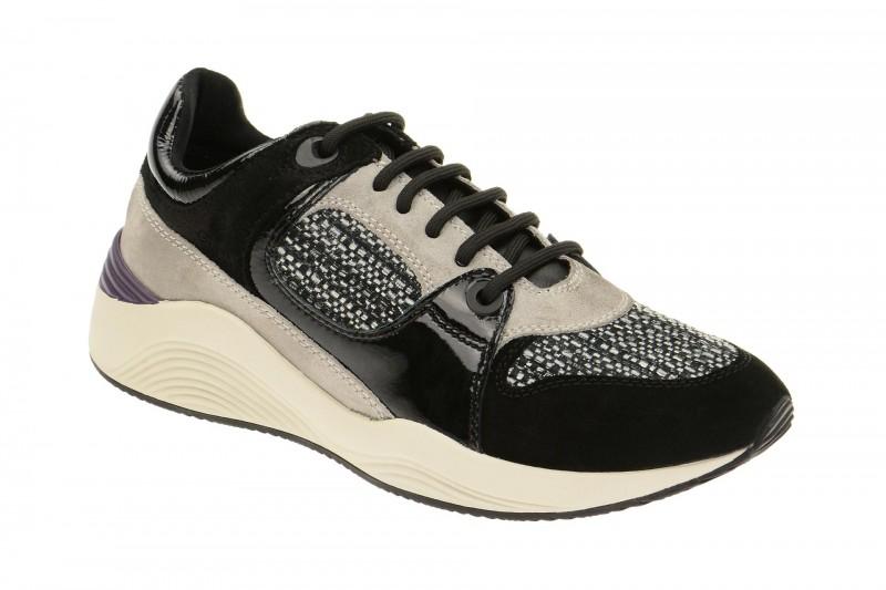 Geox Respira Omaya A Sneakers schwarz beige Damenschuhe