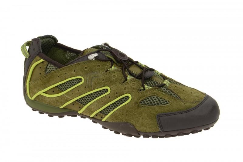 Geox Respira Snake J Sneaker in grün Gummizug