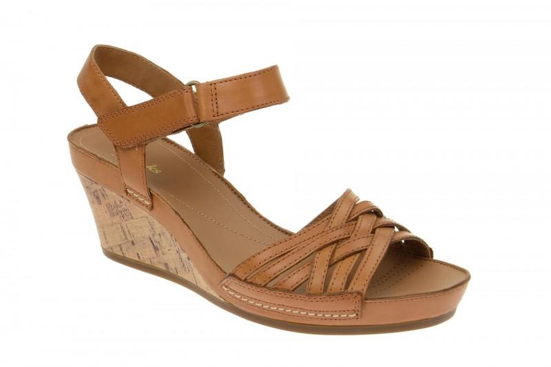 Clarks Rusty Wish Riemchen Sandale für Damen in braun