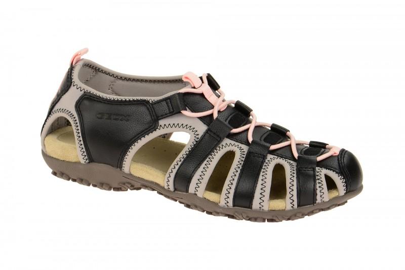 Geox Respira Sand.Strel Damen Sandaletten in schwarz grau kaufen!