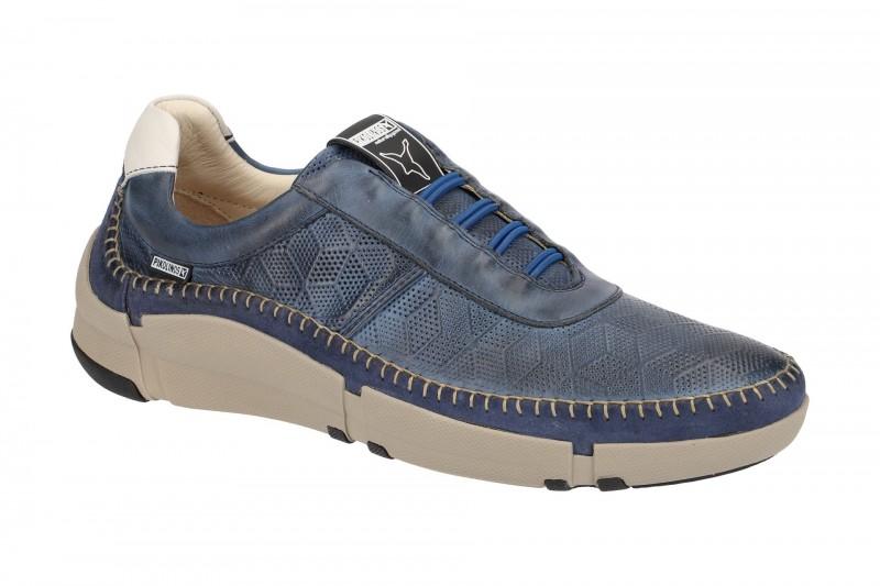 Pikolinos NERJA bequeme Slipper für Herren in blau