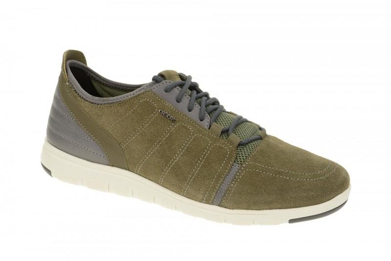 Geox Respira Xunday A Sneakers in grün grau Herrenschuhe