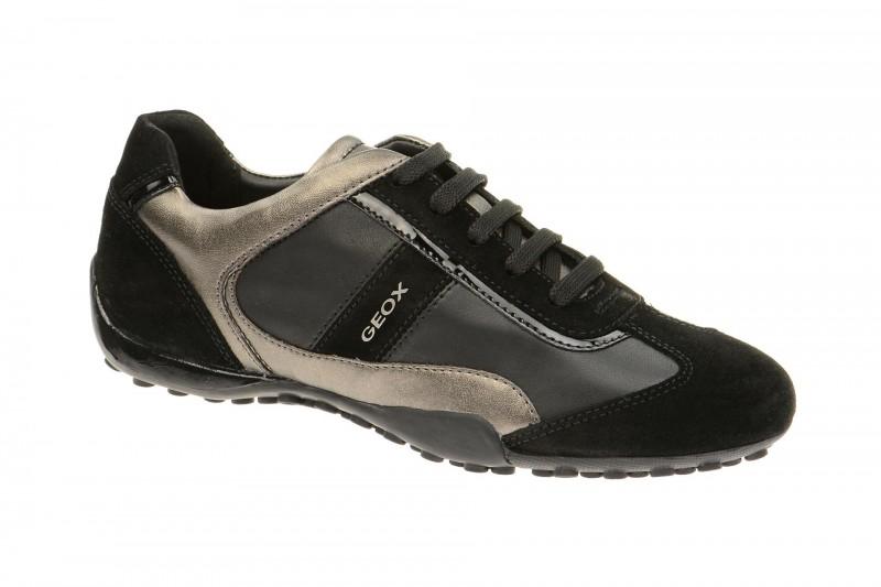 Geox Respira Snake B Sneakers in schwarz Damenschuhe