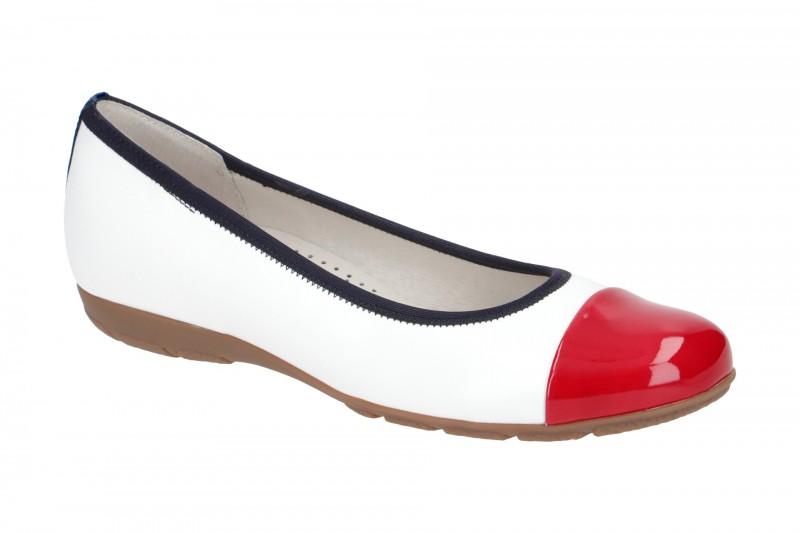 Gabor 44.161 Ballerina - Halbschuhe - Slipper für Damen in weiß