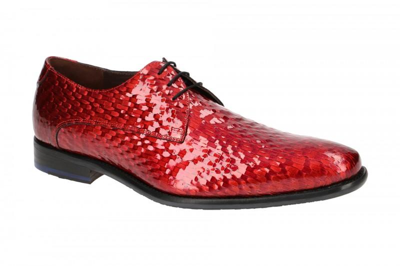 Floris van Bommel 18123 elegante Halbschuhe und Schnürschuhe für Herren in rot