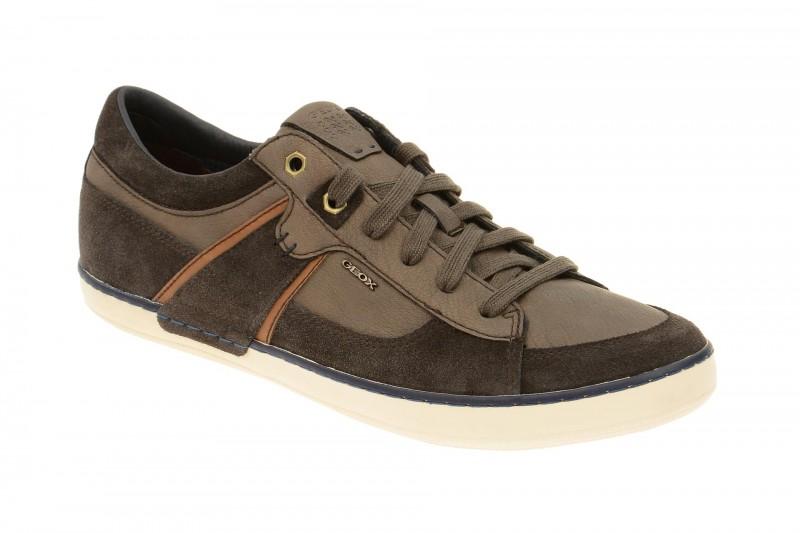 Geox Respira Box C Schuhe in dunkelbraun Herren Sneakers