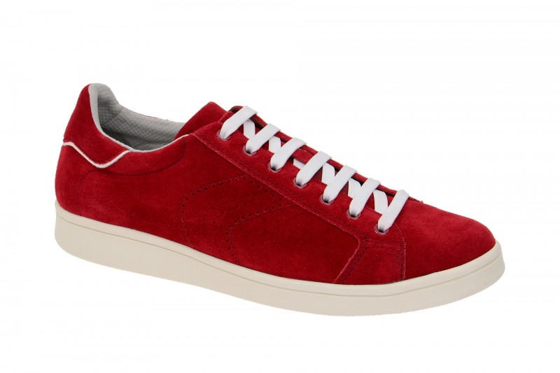 Geox Respira Warrens B Sneakers in rot weiß Herrenschuhe