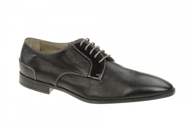 Bello BL61 elegante Halbschuhe und Schnürschuhe für Herren in schwarz