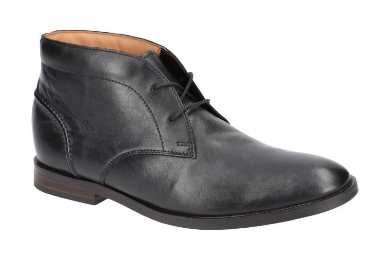 Clarks GILDE CHUKKA elegante Stiefelette für Herren in schwarz