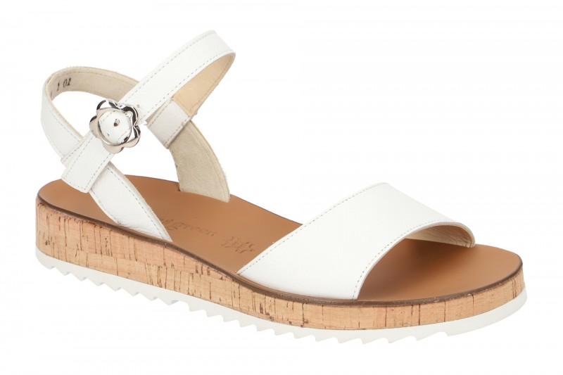 Paul Green 7161 Riemchen Sandale für Damen in weiß