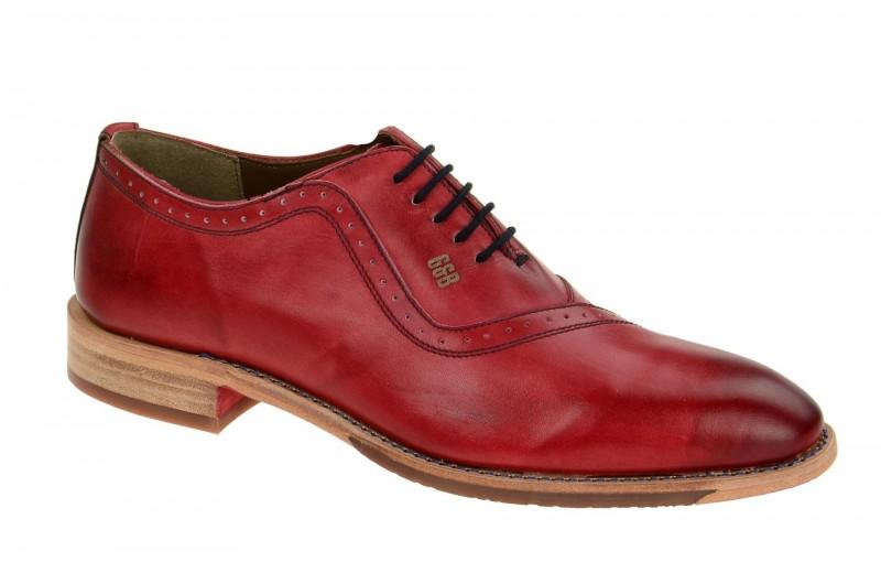 Gordon & Bros. MIRCO elegante Halbschuhe und Schnürschuhe für Herren in rot