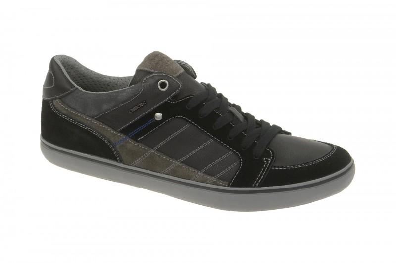 Geox Respira Box F Sneakers in schwarz grau Herrenschuhe