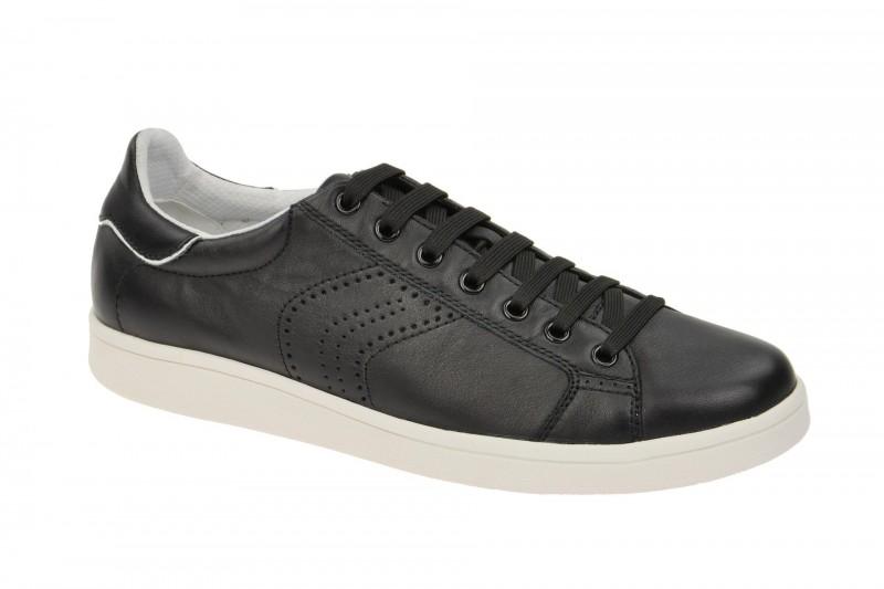 Geox Respira Warrens B Sneakers in schwarz weiß Herrenschuhe