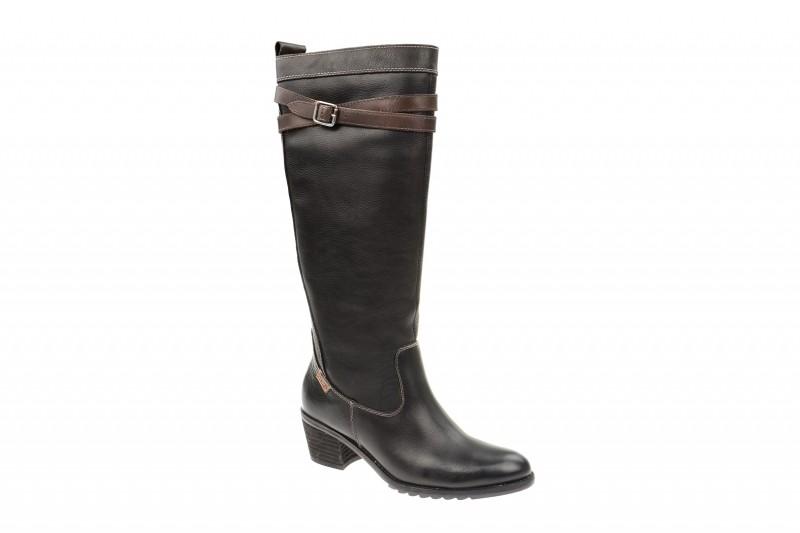 Pikolinos Andorra elegante Stiefel für Damen in schwarz