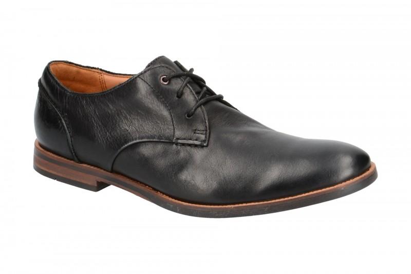 Clarks BROYD WALK elegante Halbschuhe und Schnürschuhe für Herren in schwarz