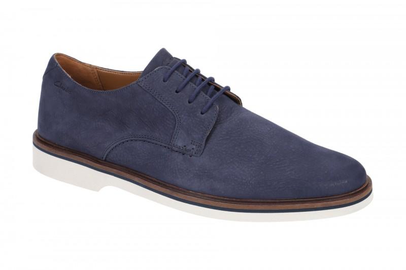 Clarks MALWOOD PLAIN elegante Halbschuhe und Schnürschuhe für Herren in blau