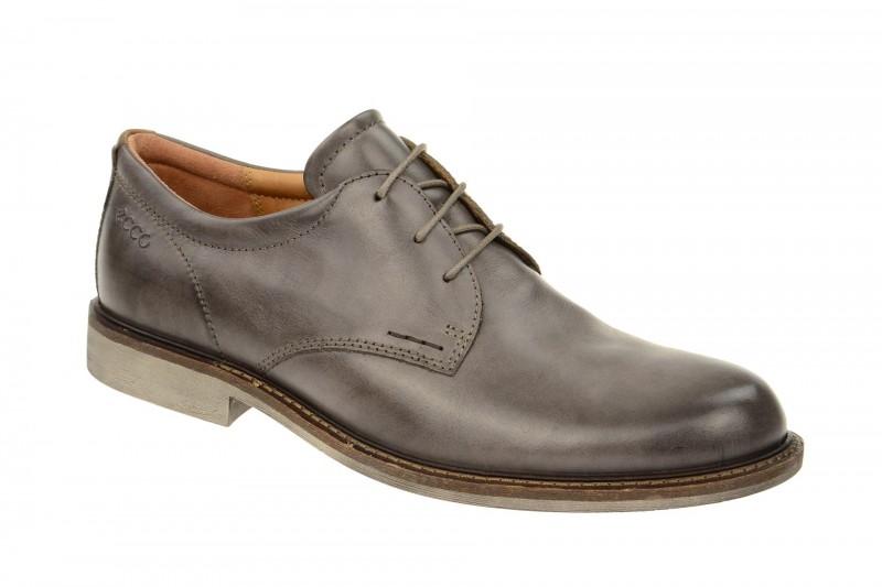Ecco FINDLEY elegante Halbschuhe und Schnürschuhe für Herren in dunkel-grau