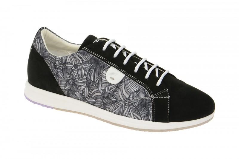 Geox Respira Avery A Sneakers in schwarz print Damenschuhe